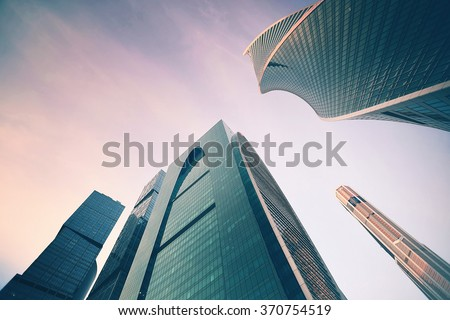 high rise buildings in city...