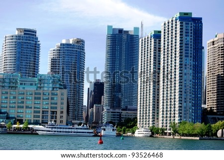 High Rise Buildings in Downtown Toronto Waterfront, Canada