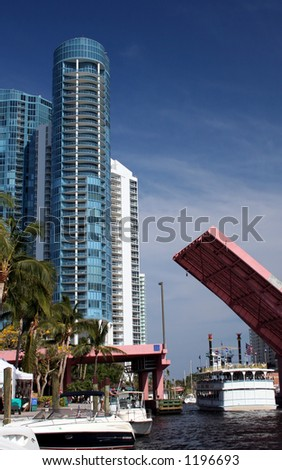 high rise drawbridge - stock photo