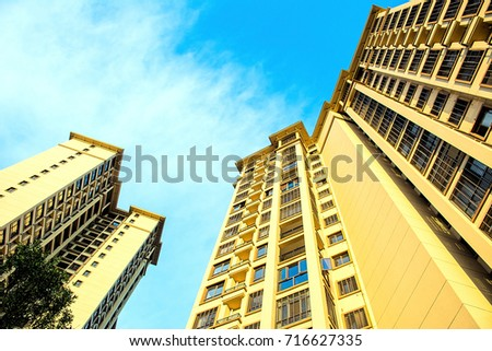 High-rise residential district / real estate development #716627335