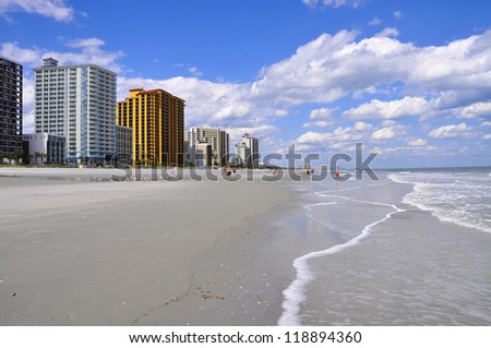 high rise resort condos on beach
