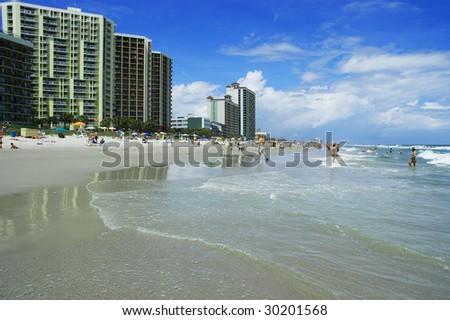 High rise resorts on beach, myrtle beach south carolina