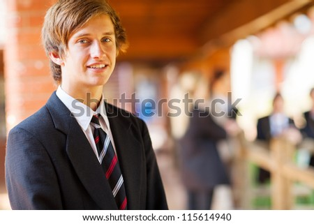 high school boy closeup portrait