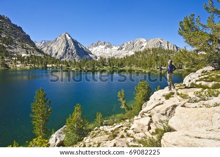 High Sierra Landscape in Kings Canyon National Park, California