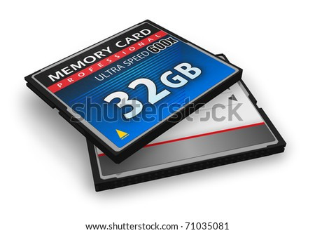 High speed CompactFlash memory cards