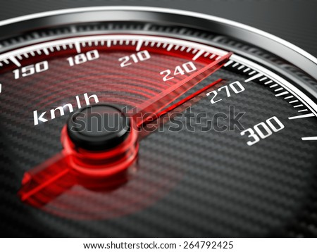 High speed concept - Car speedometer