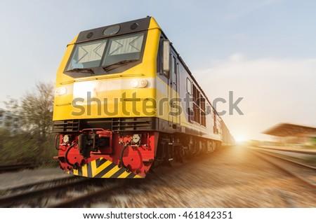 high speed diesel train on...