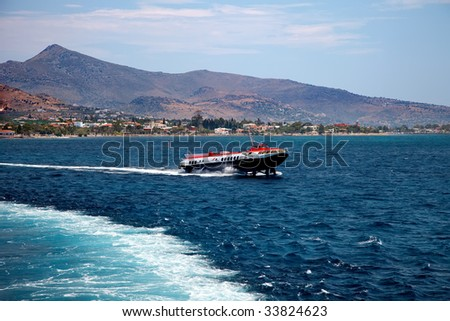 High-speed ferry in Aegean see
