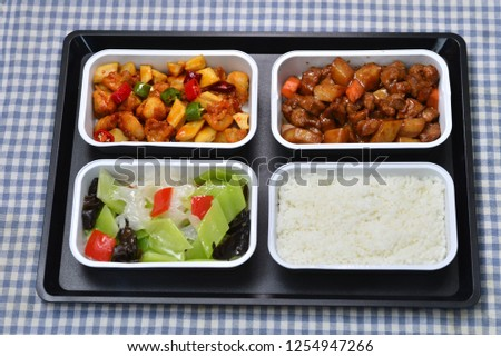 High speed meal meal meal meal set lettuce fungus beef potatoes #1254947266