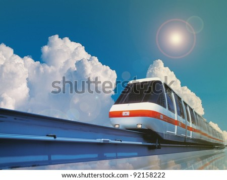 High Speed Monorail Train