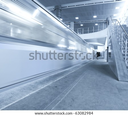 high-speed moving train in motion