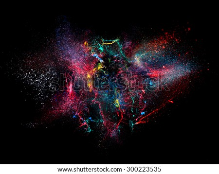 high speed photography of ink color explosion #300223535