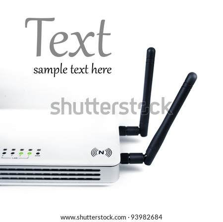 high-speed router wi-fi (n)  (With sample text)
