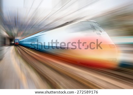 high speed train  #272589176
