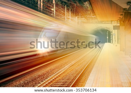 high speed train #353706134