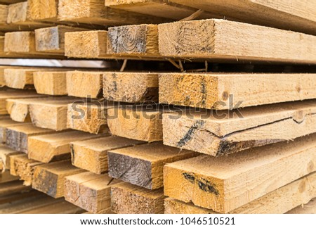 high stack of building materials natural materials eco house heat preservation background construction design #1046510521