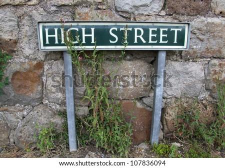 High Street Sign