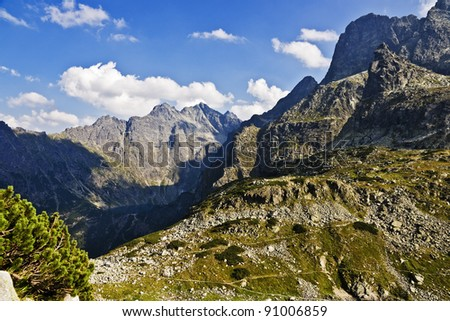 High Tatra area of the valley as a monk