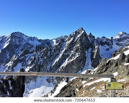High Tatras, Slovakia ski paradise Stock fotó ©
