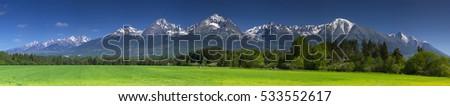 High Tatras spring panorama Foto d'archivio ©