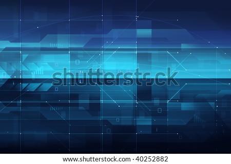 high tech digital background