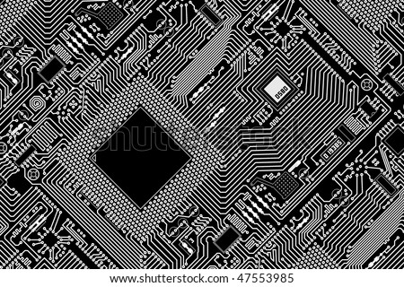 Печатные красный промышленной плате графический узор - pzAxe.