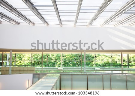 high-tech interior of a modern office building
