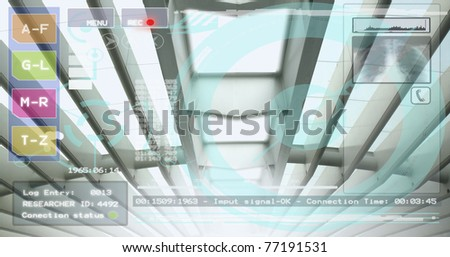 High tech medical facility background