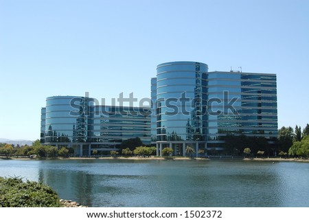 High tech office buildings, Redwood Shores, California