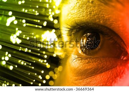 high-tech technology background