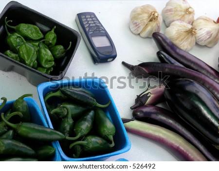 High tech vegetable sales