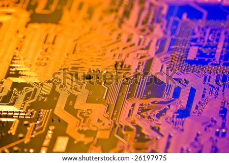 high technology background with electronic circuit board
