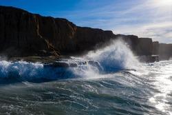 High tide at Carlsbad cliffs