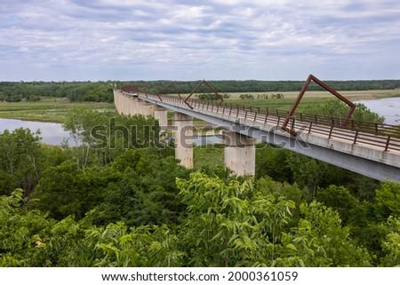 High Trestle Trail Bridge - A former railroad line turned into a bike trail. Stockfoto ©
