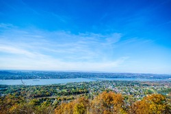 High view over Beacon, NY / USA