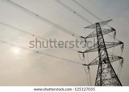high vol power tower line