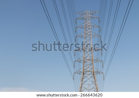 high voltage cables tower