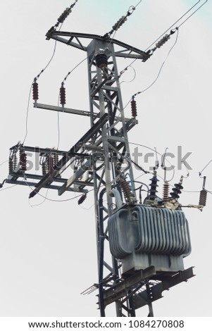 high-voltage electric substation