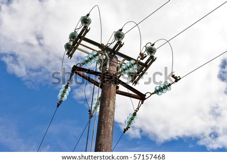 High voltage electricity pylon for the transport and transformation from high to low voltage