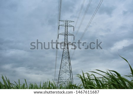 high voltage pole, high voltage pole from Thailand country #1467611687