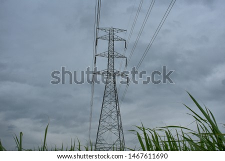 high voltage pole, high voltage pole from Thailand country #1467611690