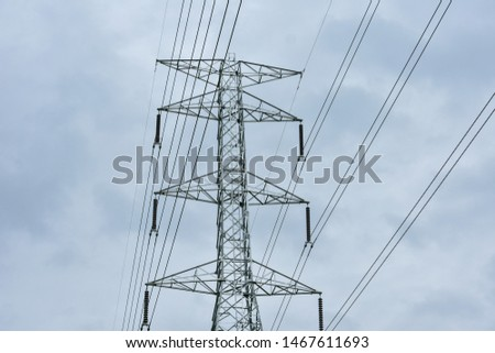 high voltage pole, high voltage pole from Thailand country #1467611693