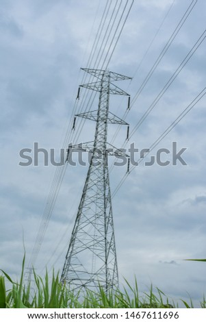 high voltage pole, high voltage pole from Thailand country #1467611696