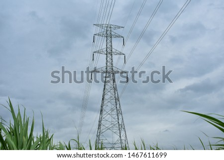 high voltage pole, high voltage pole from Thailand country #1467611699