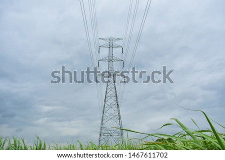 high voltage pole, high voltage pole from Thailand country #1467611702
