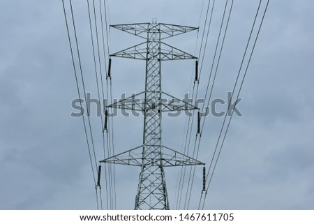 high voltage pole, high voltage pole from Thailand country #1467611705