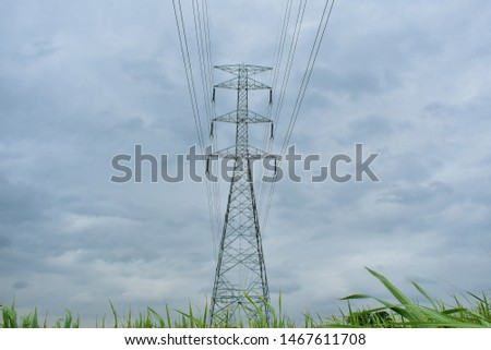 high voltage pole, high voltage pole from Thailand country #1467611708
