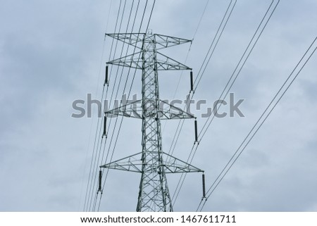 high voltage pole, high voltage pole from Thailand country #1467611711