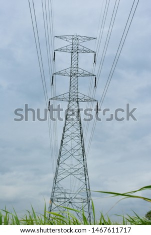 high voltage pole, high voltage pole from Thailand country #1467611717