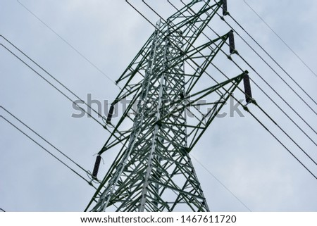 high voltage pole, high voltage pole from Thailand country #1467611720